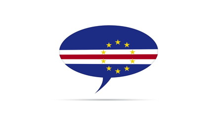 Cape Verde Flag Speech Bubble