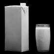 Glass of milk and bottle