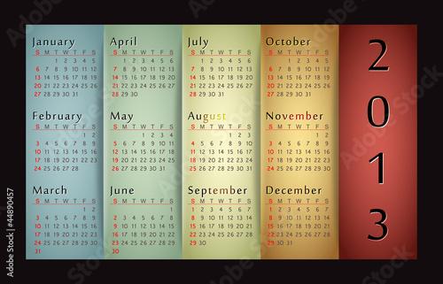Retro design calendar for 2013.