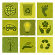 Green ecology icons