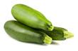 Three fresh green zucchini