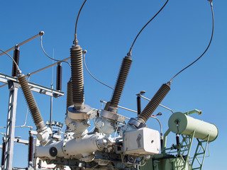 High voltage electrical substation