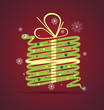 new year snake gift box card background