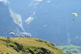 Paragliding site. Jungfrau region, Switzerland