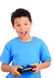 Boy Holding a Game Controller