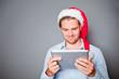 mann weihnachten tablet