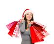 Frau mit Weihnachtstüten