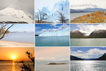 Collage Of Beautiful Argentina Landscape