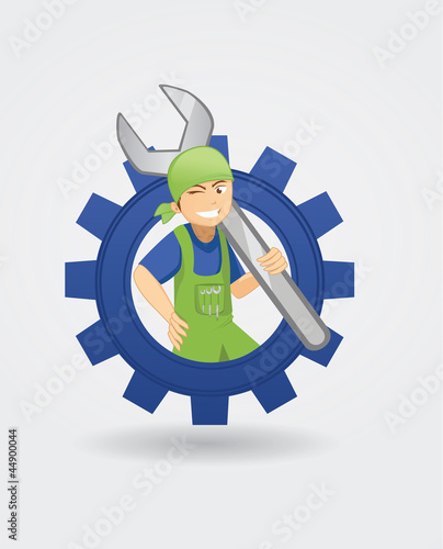 Vector: mechanic logo