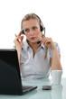 Woman telemarketer