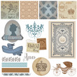 Scrapbook Design Elements - Vintage Royalty Set - in vector