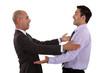 businessmen embracing