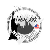 Fototapety timbre New York