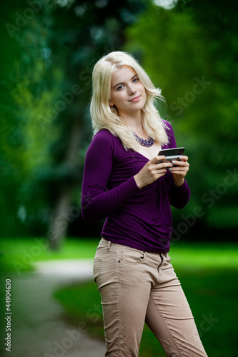 Portrait of Woman Using Phone