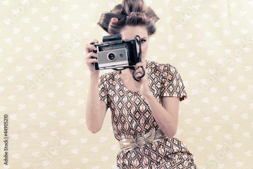 Fototapeta portret - retro - Kobieta