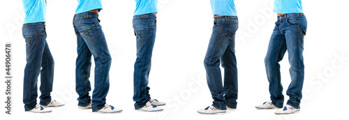Lower than a belt - stylish men's clothing. Jeans.