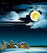 Moon and houses winter