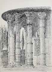 The Temple of Vesta in Rome, Italy