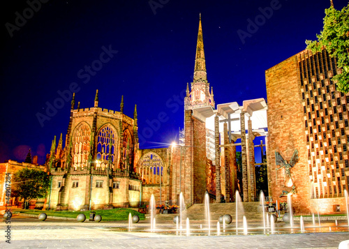 Cathedral at night Coventry