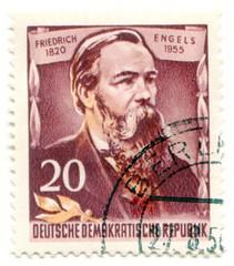 Friedrich Engels on East Germany postage stamp