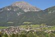 Blick auf den Ferienort Telfes im Stubaital in Tirol