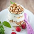 biomüsli mit joghurt und honig