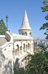 an der berühmten Fischerbastei in Budapest