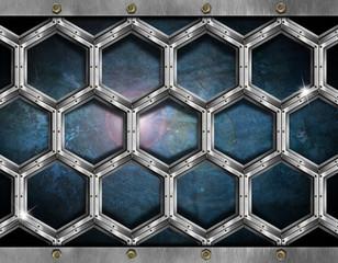 Hexagons Grunge Background