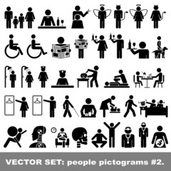 Vector Set: People pictograms #2