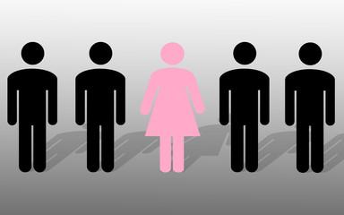 Frau unter Männern