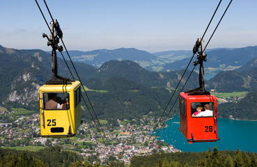 Cableway in alps