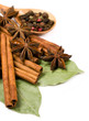 cinnamon sticks , bay leaf and star anise