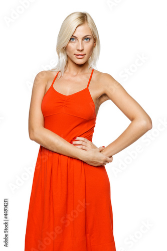 Relaxed casual young woman