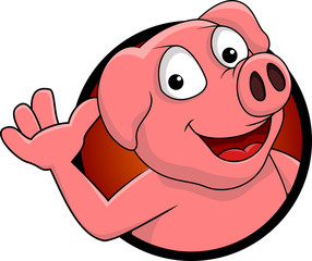 funny pig cartoon