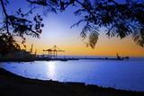 Fototapeta nadmorski - niebieski - Zachód / Wschód Słońca