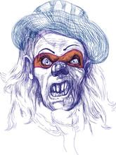Przerażające maski (rysunek)