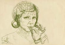 Raucher (Zeichnung)