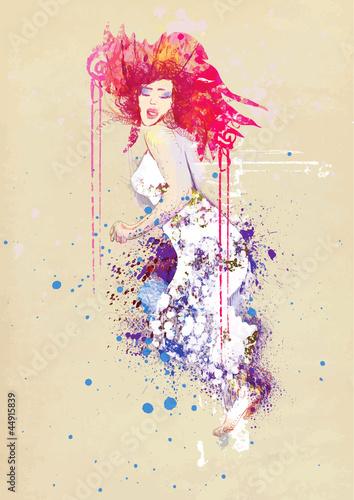 kobieta-w-letniej-sukience-rysunek