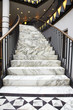 White marble stair in luxury interior - 44916068