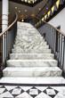 Leinwanddruck Bild - White marble stair in luxury interior