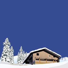 雪の山小屋