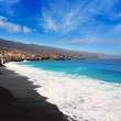 Candelaria black sand beach in Tenerife