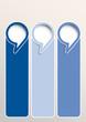 Vector faq labels, three options