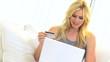 Blonde Girl Home Online Shopping