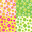 set of vector abstract seamless background