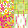 Set of vector colorful abstract seamless background