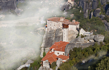 Monasteries at Meteora of Kalambaka in Greece