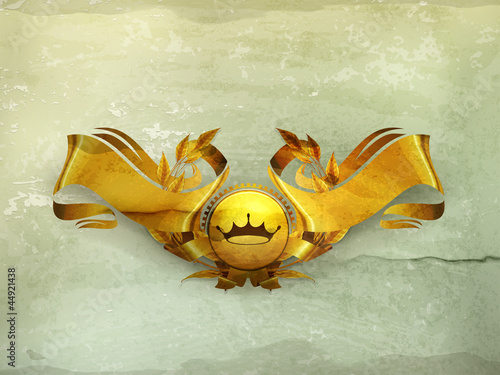 Design Element, Gold Emblem old-style