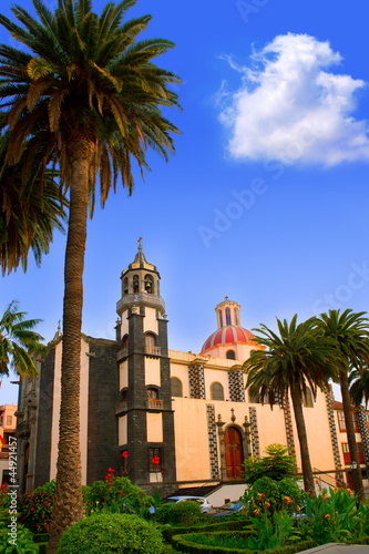 La Orotava Concepcion church red dome