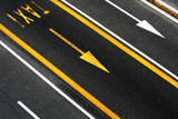 Fototapety Arrows and lines with taxi caption